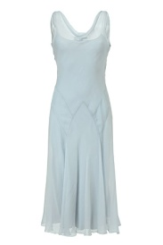 RALPH LAUREN COLLECTION Pale Blue Silk Chiffon Griswold Dress - 1.175 €