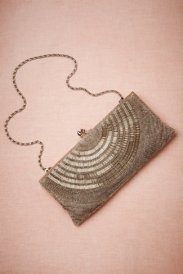 BHLDN Deco Beaded Clutch - $180.00