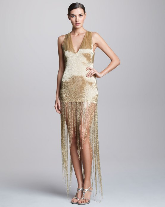Naeem Khan Sequined Fringe Dress - $4,390.00