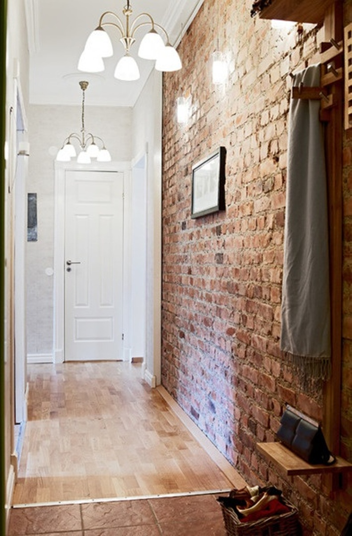brick wall entrance
