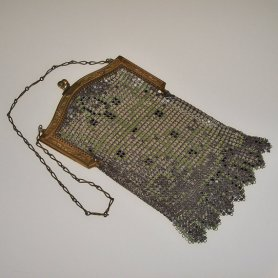 Art Deco Handbag Vintage 1920s Flapper Whiting and Davis - $200.64 CAD