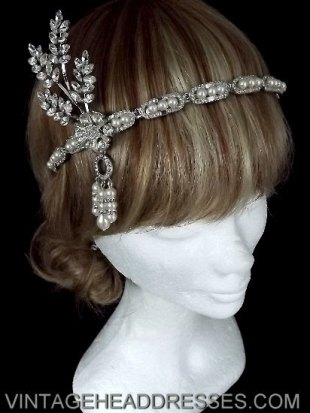 Vintage 1920's Art Deco Flapper Headpiece - $792.76 CAD