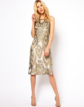 ASOS Needle & Thread Era Silk Midi Dress - $290.94
