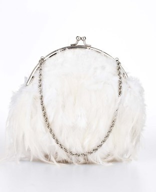 Ann Taylor Feathered Bag - $142.09 CAD