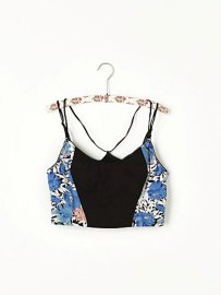 Free People Side Printed Crop Bra