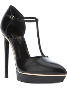SAINT LAURENT 'Janis' t-bar strap sandal