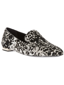 BURBERRY LONDON animal print loafer