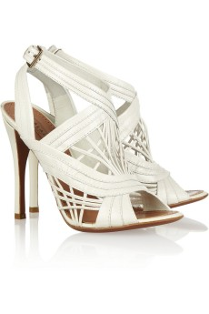 Alaïa Lattice-effect leather sandals