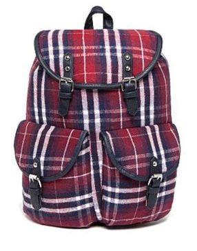 Bank Fashion Plaid Backpack