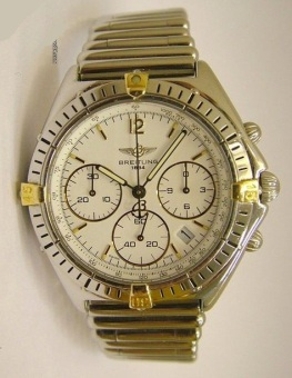 Breitling Chrono Sextant Stahl-Gold Rouleauxband