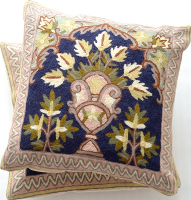Flower Bouquet Kashmiri Pillows