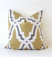 Trellis Modern Geometric Designer Pillow