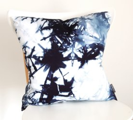 Navy Organic Cotton Shibori Pillow Cover