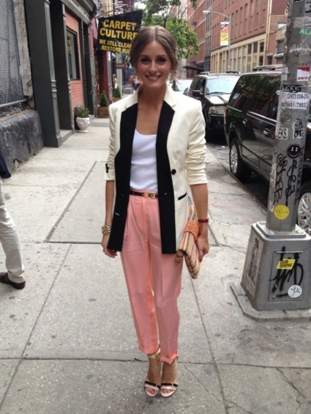 olivia palermo pink trousers