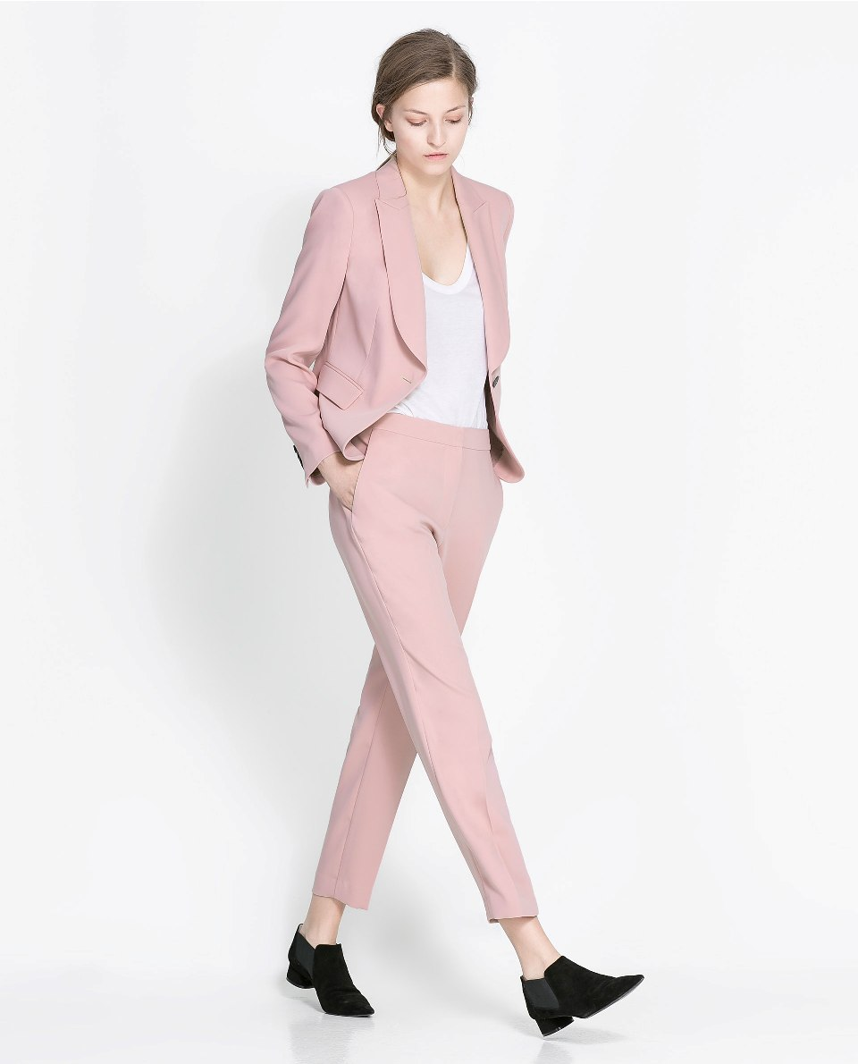 zara 2013 new season pink trousers