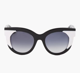 THIERRY LASRY Black & White Slutty 29 Sunglasses