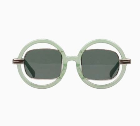 Choies New Look Double Frames Sunglasses In Green