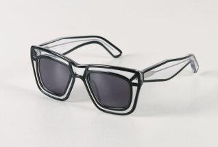 Ksubi Skeleton Sunglasses in Black