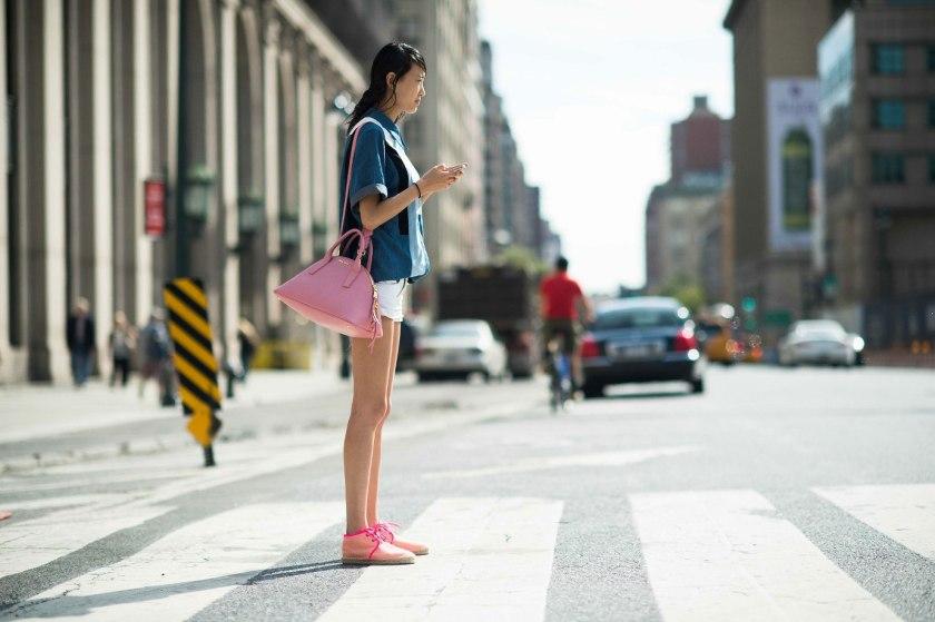 pink bag shoe duo