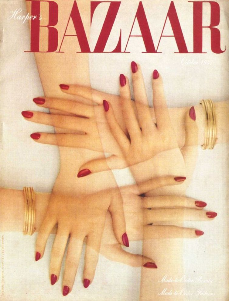 red nails harpers bazaar