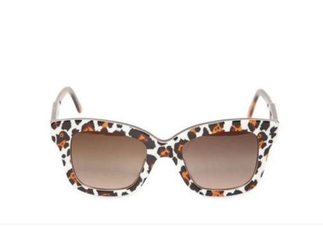 STELLA MCCARTNEY ANIMAL PRINT SQUARE ACETATE SUNGLASSES