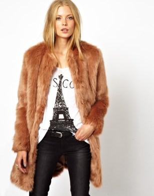 ASOS Longline Lux Fur Coat