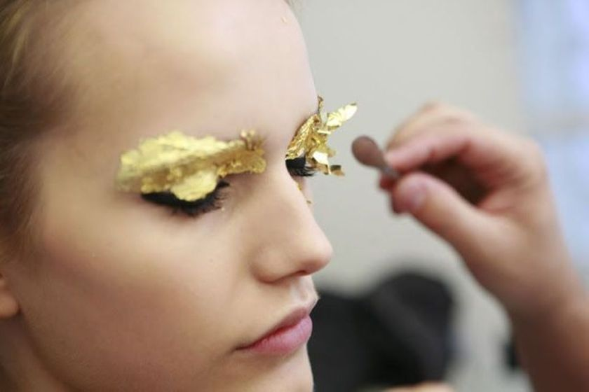 fendi spring 2012 gold foil