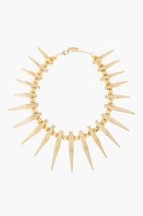 Guiseppe Zanotti Gold Fang studded Necklace