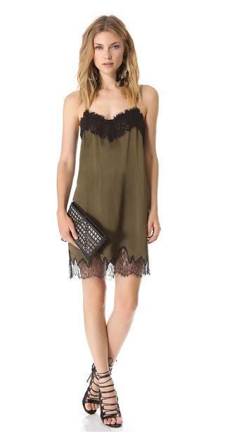 Haute Hippie lace slip dress