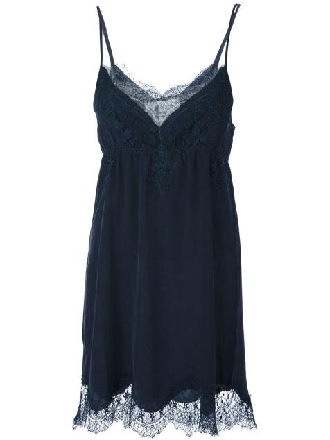 PINK MEMORIES lace slip dress
