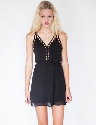 Pixie Market Mia Cage Slip Dress