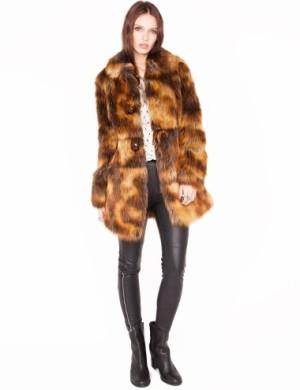 Pixie Market Faux fox fur coat
