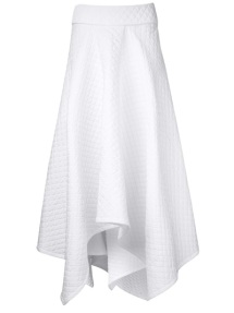 PODOLYAN asymmetrical fold over skirt