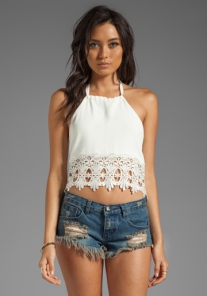 Stone Cold Fox Guerrilla Lace Crop Top