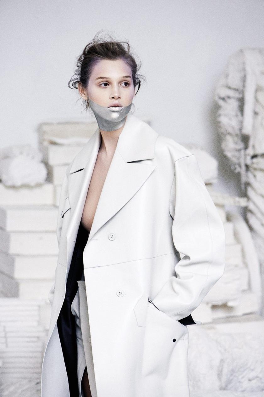 Anais Pouliot by Max Farago (Masques de Beauté - M Le Monde #112 November 2013) 9