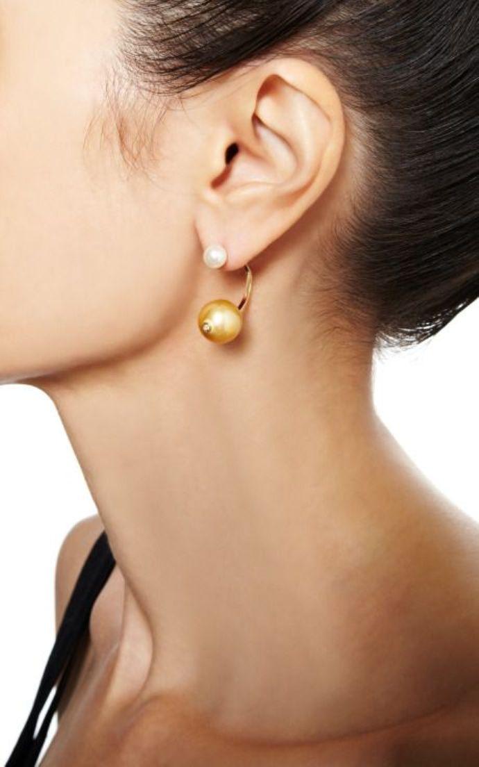 Delfina Delettrez Fendi double pearl earring