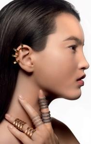 repossi ear cuff and rings