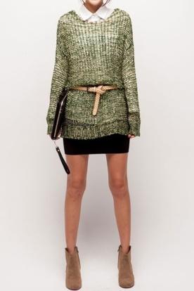 belt over sweater