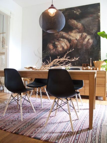 black eames dining chairs