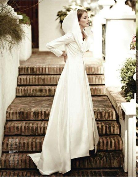 winter bridal cape
