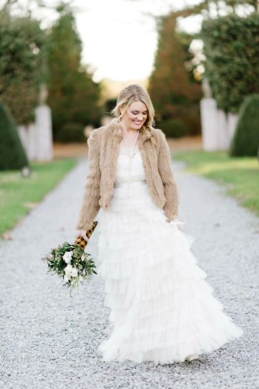 winter bride jacket