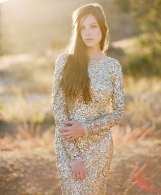 winter bride sequins