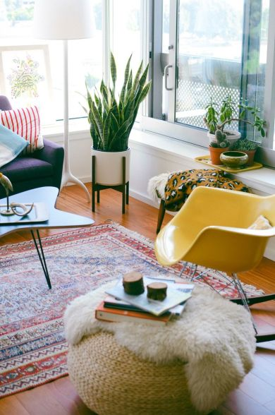 yellow eames rocker