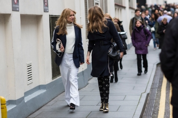 London Fashionweek fw2014, day 4 - outsdie Erdem - no release