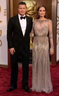 Brad Pitt in Tom Ford & Angelina Jolie in Elie Saab