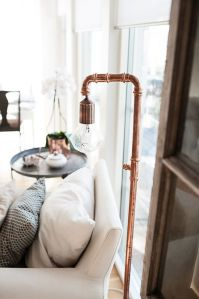 copper piping lamp