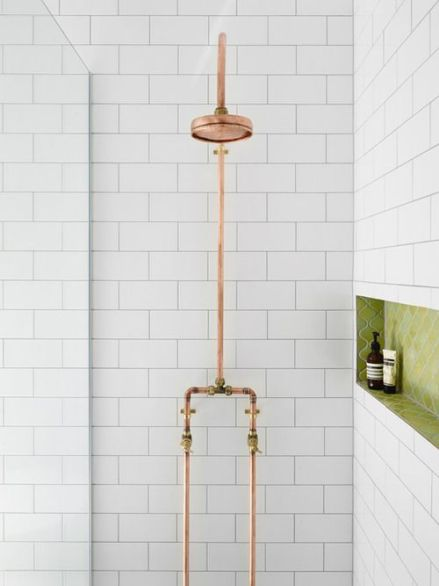 copper piping shower2