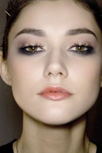 black lower eye makeup
