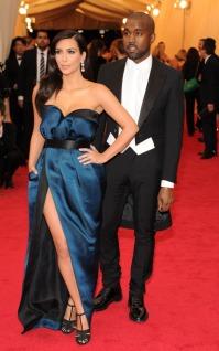 Kim Kardashian, Kanye West in Lanvin