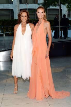 Donna Karan and Heidi Klum in Donna Karan